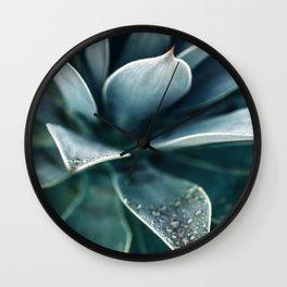 Agave Rain #1 Wall Clock