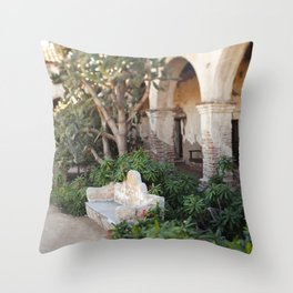 Moment at the Mission Throw Pillow