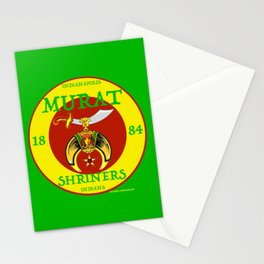 Murat Shriners, 1884, Yellow & Red Stationery Cards