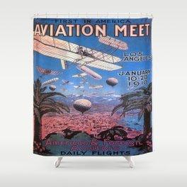 Vintage poster - Aviation Meet Shower Curtain