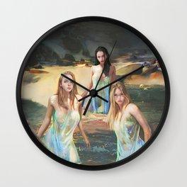 "Sirens (""Charm of of the Ancient Enchantress"" Series) Wall Clock"