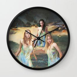 "Sirens (""Charm of of the Ancient Enchantress"" Series) Wall Clock"