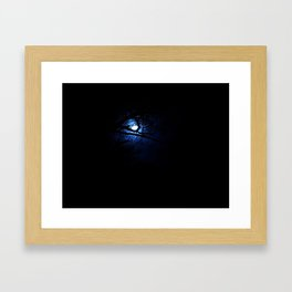 A Line in the Dark Framed Art Print