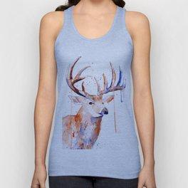 Deer Art Watercolor painting Unisex Tank Top