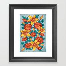 Flowers - Red Framed Art Print
