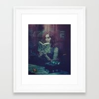 moby dick Framed Art Prints featuring Moby Dick  by Lídia Vives