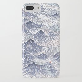Distant View - 遠望 series -Linocut iPhone Case