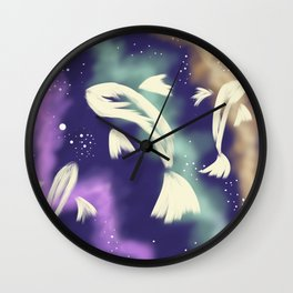 Star Catching Fish Wall Clock