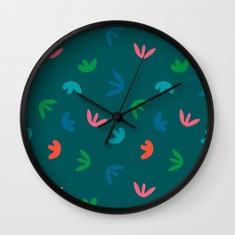 SPROUTS in BLUE Wall Clock