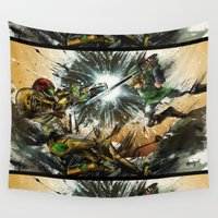 metroid Wall Tapestries featuring The Battlefield by Fresh Doodle - JP Valderrama