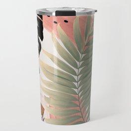 Palm Leaf Summer Glam #1 #tropical #decor #art #society6 Travel Mug