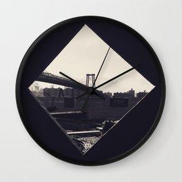 NYC BRIDGE Wall Clock