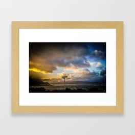 Sunset on the Esplanade Framed Art Print