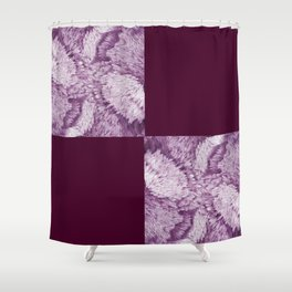 Season of the Square - Magenta Check Shower Curtain