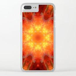 Solar Energy Portal Mandala Clear iPhone Case
