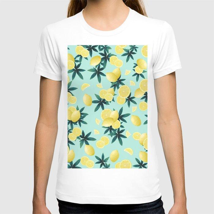 Lemon Twist Vibes #1 #tropical #fruit #decor #art #society6 T-shirt