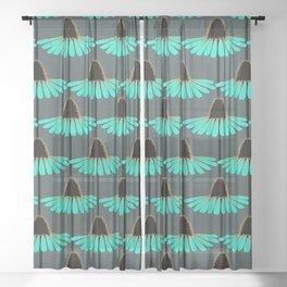Wistful Black-Eyed-Susan Sheer Curtain