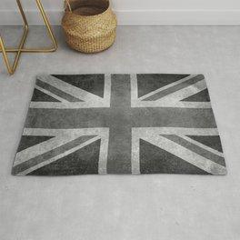 British Union Jack flag in grungy tex Rug