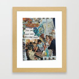 come for a little lunch Framed Art Print