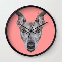 Whippet // Pink (Vespa) Wall Clock