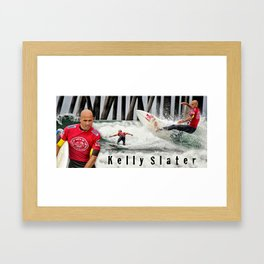 Kelly Slater Surfing Framed Art Print