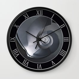 Modern spiral staircase in blue and grey tones Wall Clock