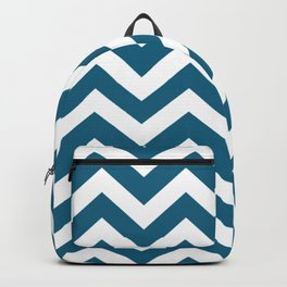 Blue sapphire - blue color - Zigzag Chevron Pattern Backpack
