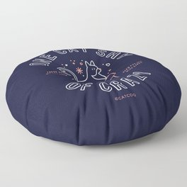 One Cat Shy of Crazy – Blush & Denim Palette Floor Pillow