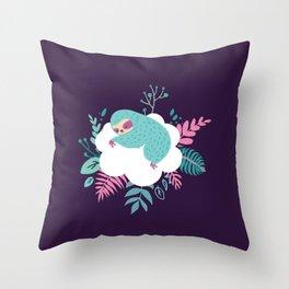 Little Sleeping Sloth Throw Pillow