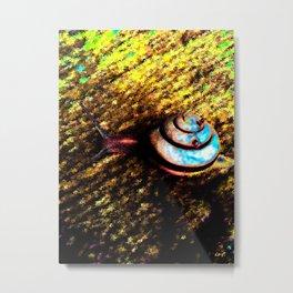 Brooklyn Snail Metal Print