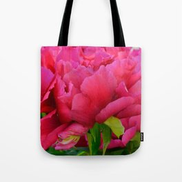 Dark Pink Tree Peony by Teresa Thompson Tote Bag