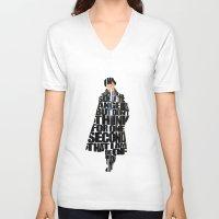 sherlock holmes V-neck T-shirts featuring Sherlock Holmes by Ayse Deniz