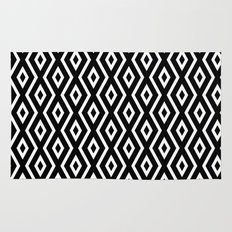 Black & White Pattern Rug