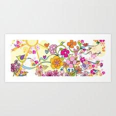 Peace, Joy, Love and Strength Art Print