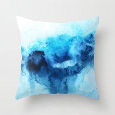 Beach Abstract Watercolor Throw Pillow