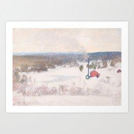 PEKKA HALONEN, VINTER VIEW FROM OUTOKUMPU Art Print