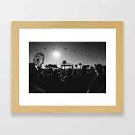 Music Festival. Framed Art Print