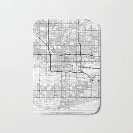 Phoenix Map White Bath Mat