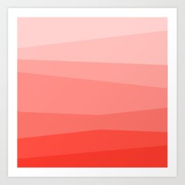 Diagonal Living Coral Gradient Art Print