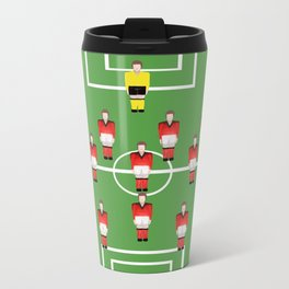 Soccer football team in red Metal Travel Mug