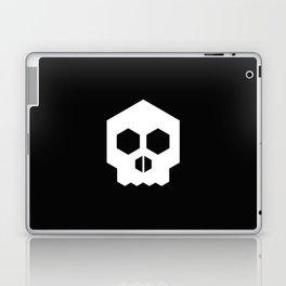 hex geometric halloween skull Laptop & iPad Skin