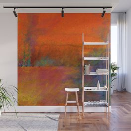 Orange Study #1 Digital Painting Wall Mural