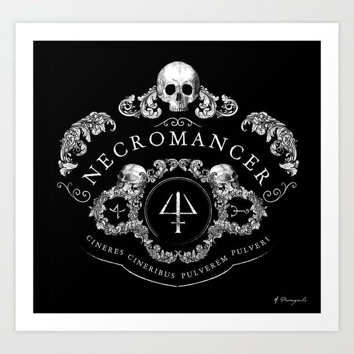 Necromancer Emblem Art Print