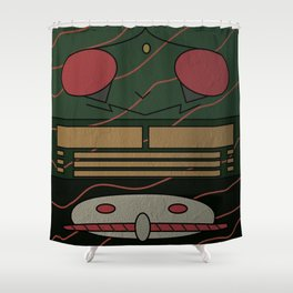 Kamen Rider Amazon Shower Curtain