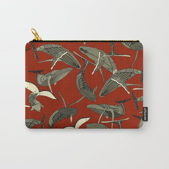 just whales red Carry-All Pouch