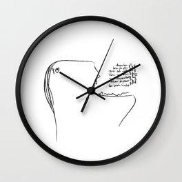 Eat a Song Wall Clock