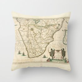 Southern Africa 1640 Throw Pillow