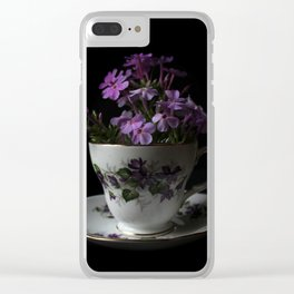 Botanical Tea Cup Clear iPhone Case