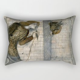 "Edward Burne-Jones ""Theseus and the Minotaur in the Labyrinth"" Rectangular Pillow"