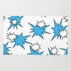 Stars (Blue & White on White) Rug